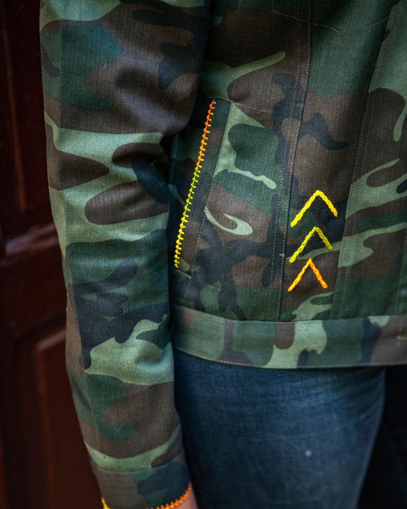 Veste en tissu militaire maroc